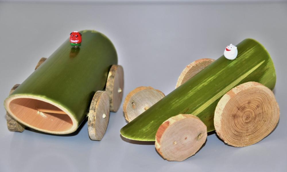 親子で作ろう竹のミニカー