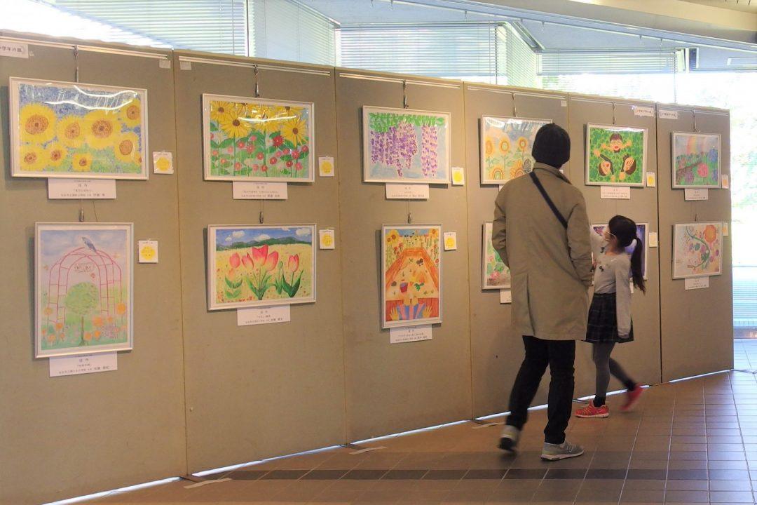 緑と花いっぱい絵画コンクール優秀作品展(緑化ホール)